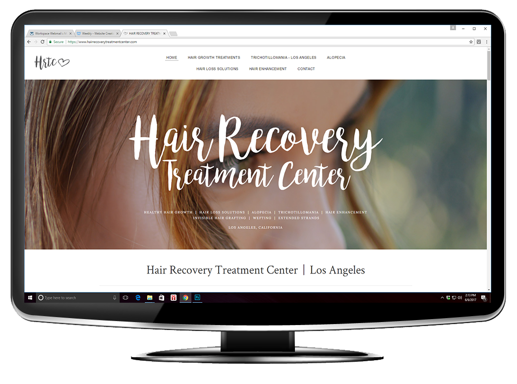 Hair Recovery Treatment Center Website